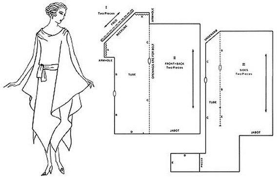 выкройка платье 50-60х годов