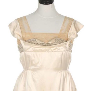 womens fashion 1918 - weddings - Lucile Weddding gown 1918 front, image Kerry Taylor Auctions
