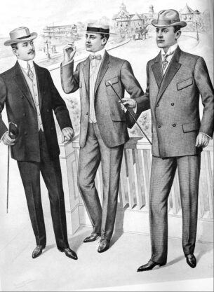 Mens vintage Fashion 1900 1910-edwardian era