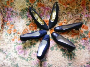 Vintage footwear-1960's shoes, made for princess midiavani,wife of sir Aurthur Conan Doyle