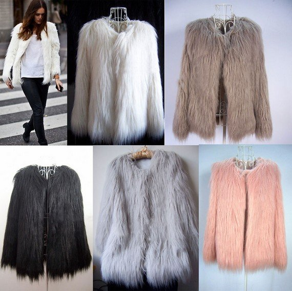 Faux Fur Evolution in Fashion - Vintage Clothing - Blue 17
