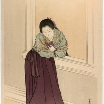 Shodo Yukawa- __Female student after Meiji 34-35__- 1901-1902