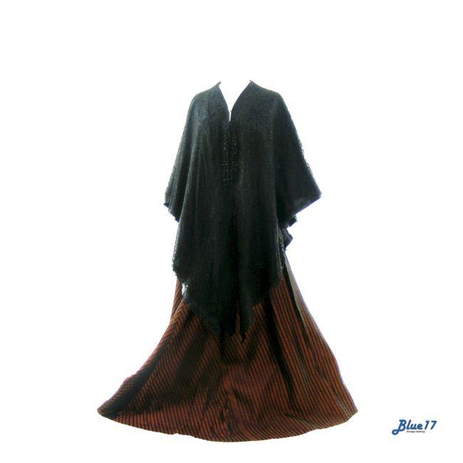 Victorian Black Lace Cape