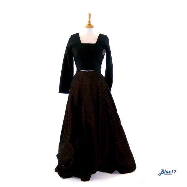 Black Vintage Corset Top