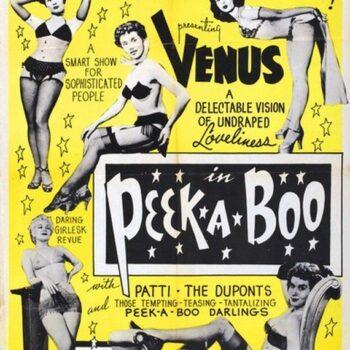 Burlesque history-peek a boo poster-1953