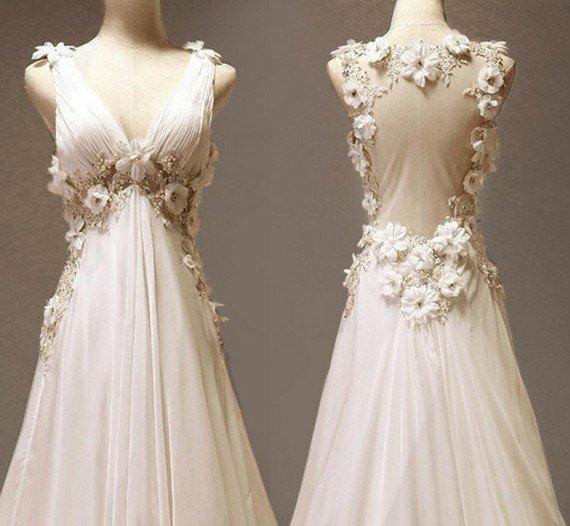 Shabby Chic Wedding Gown - Ocodea.com