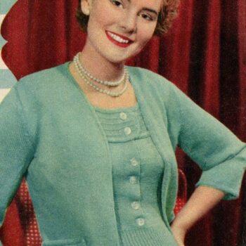 Womens Vintage knitwear-1950's twinset
