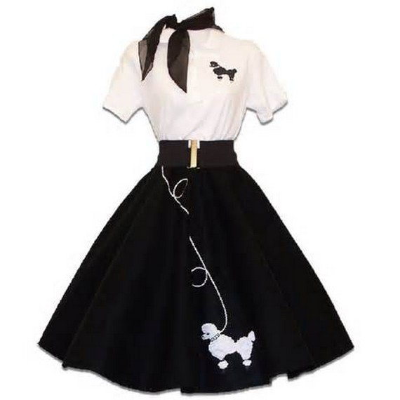 Womens Vintage Tops-1950's Fitted top & poodleskirt