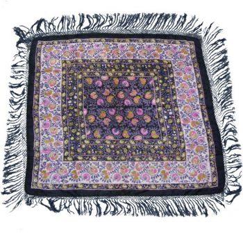 vintage silk fringed headscarf from blue17