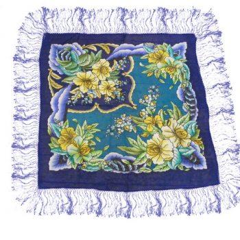 vintage silk headscarf from blue17