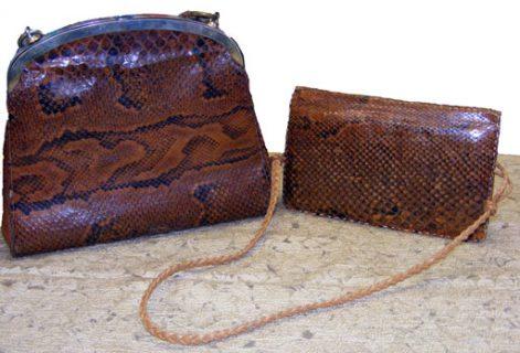 vintage snakeskin bags