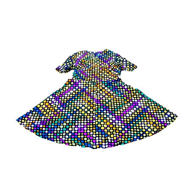 70s dress-polka dots
