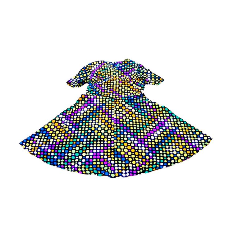 70s dress-polka dots