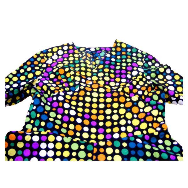 70s dress-polka dots-front
