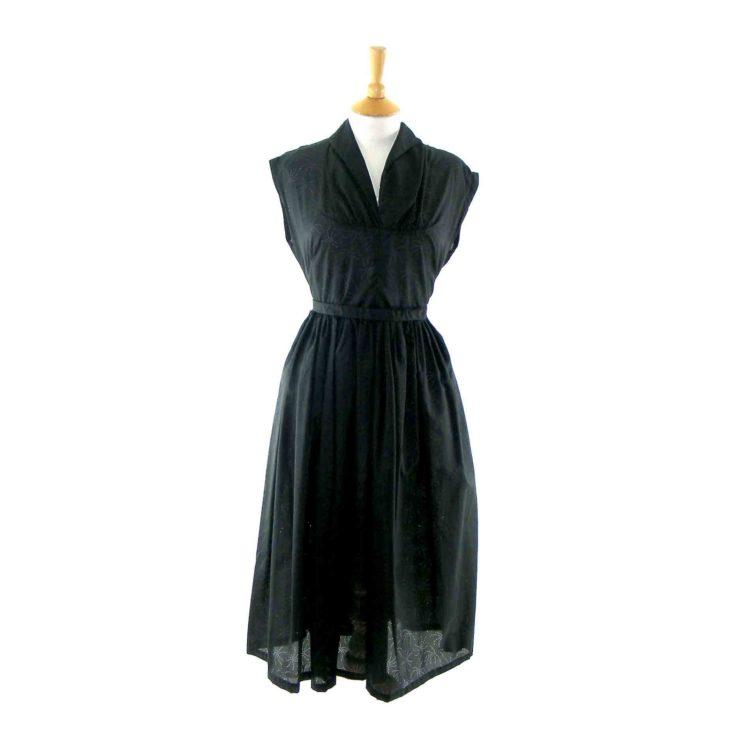 Black 1950s vintage dress