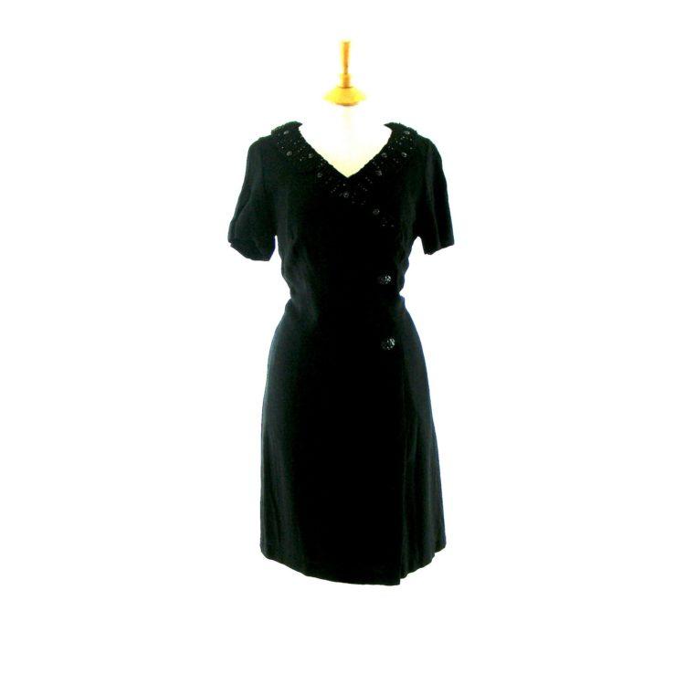 Black vintage 50s dress