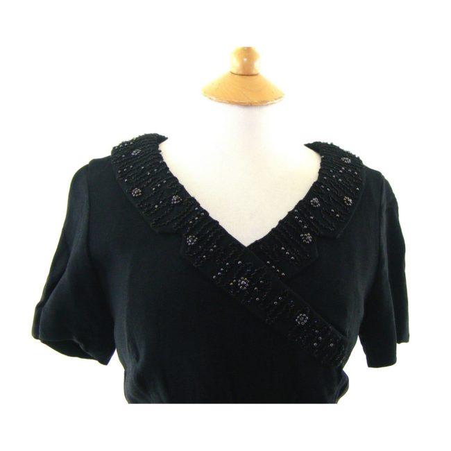 Black vintage 50s dress-front