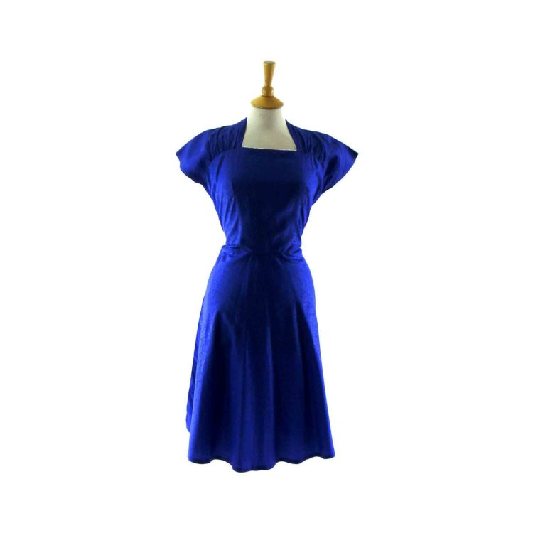 Purple-1940s vintage dress
