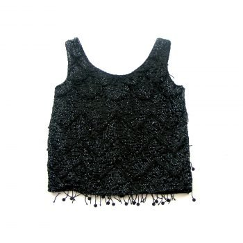 Beaded and sequined 60s Vintage evening top