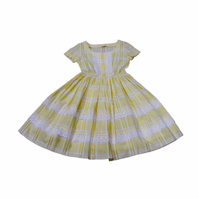 Yellow 1950s vintage dress