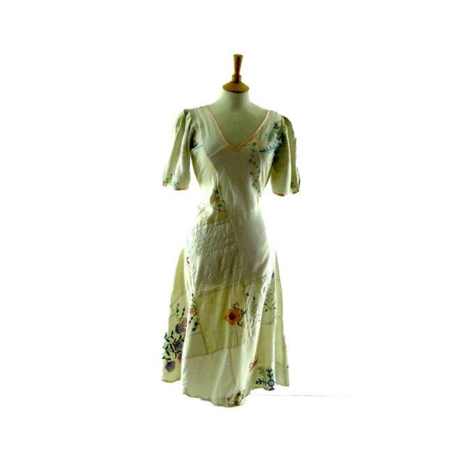 70s patchwork dress