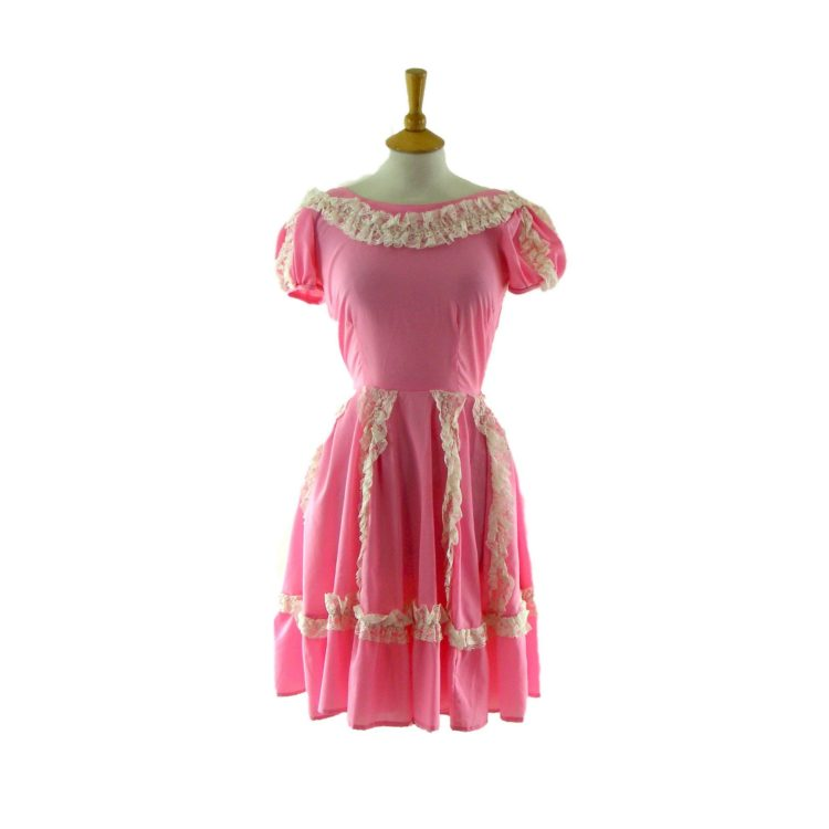 70s Pink party dress