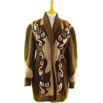 Womens Vintage Cardigans - Ladies Mohair And Wool Cardigan