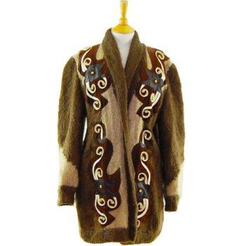 Womens Vintage Cardigans - Ladies Mohair And Wool Cardigan
