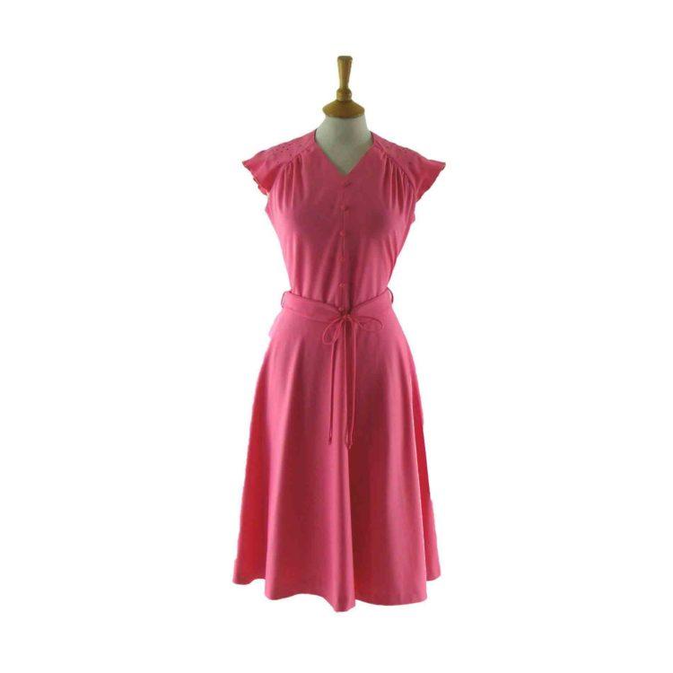 Pink-vintage 70s dress