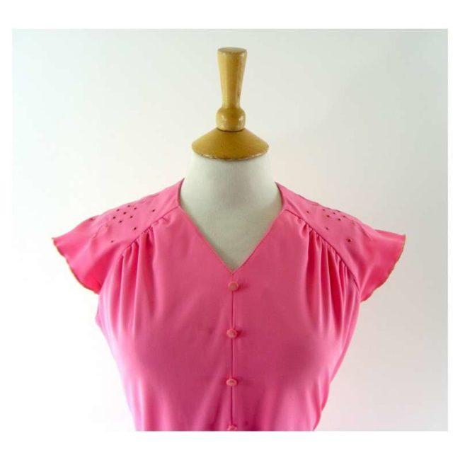 Pink-vintage-70s-dress-front