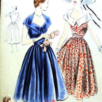 1950s fashion trends - vogue patterns