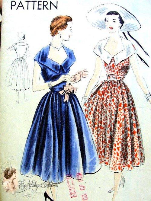 1950s fashion trends - vogue patterns