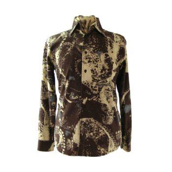 1970s vintage shirts, Printed 1970s shirt