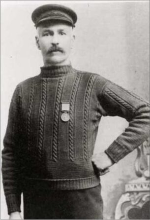 A Victorian hero in his gansey sweater.