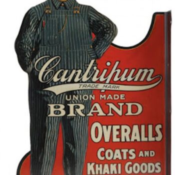 Cantripum brand workwear sign.