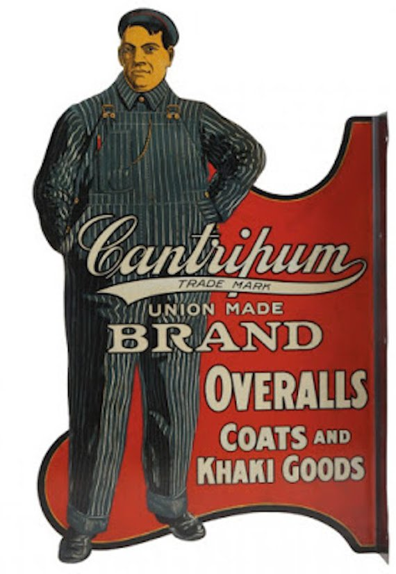 Cantripum brand workwear sign.