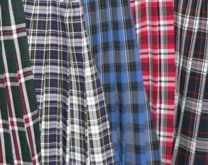 Vintage plaid skirts