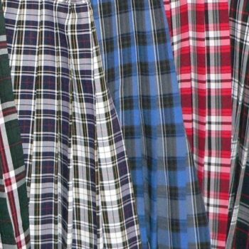 Vintage plaid skirts