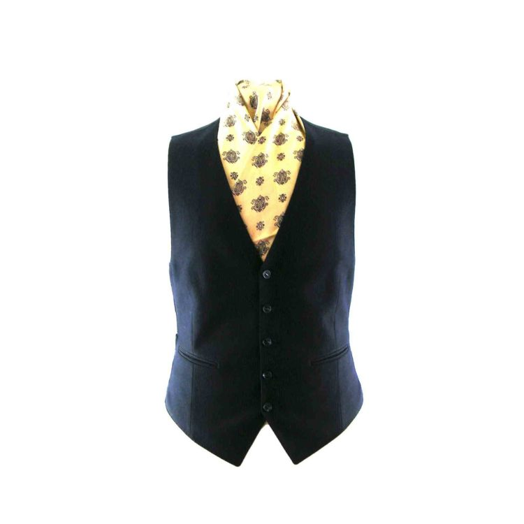 Navy blue pinstripe waistcoat