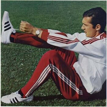 vintage athletic tops -One of Adidas first tracksuits