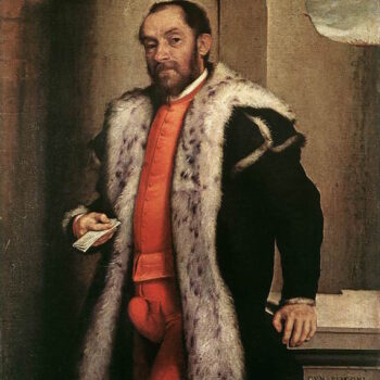 Giovanni Battista Moroni, Portrait of Antonio Navagero with his codpiece,, 1565