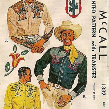 Make your own vintage western shirts - 1950s McCall's pattern.