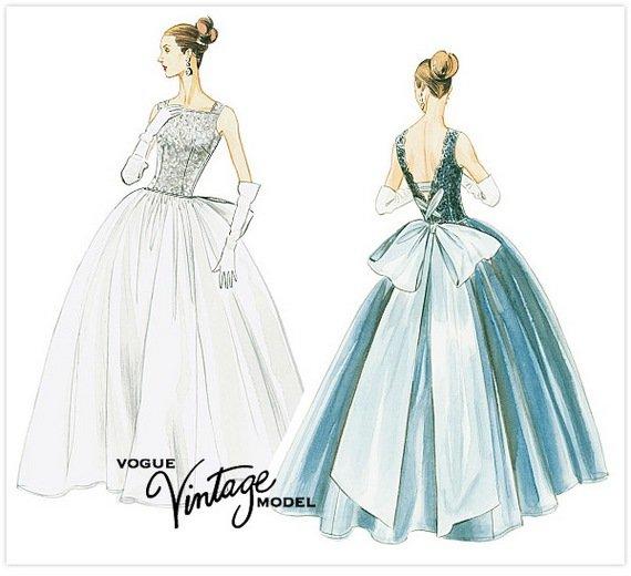 Vintage Wedding Dress Pattern - Ocodea.com