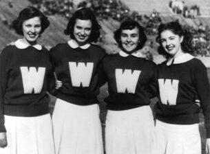 -womens vintage sweatshirts50s cheerleaders
