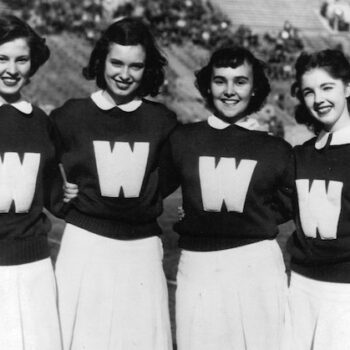 -womens vintage sweatshirts50s cheerleaders