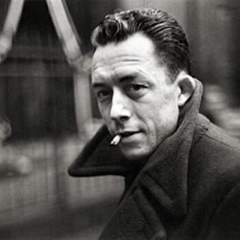mens vintage coats-Albert Camus by Henri Cartier Bresson 1944