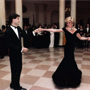 womens 1980s vintage dresses - John Travolta and Princess Diana dancing