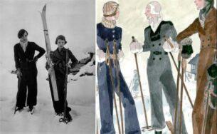 vintage womens ski jackets - Elsa-Schiaparelli-and-Gogo,-1934.