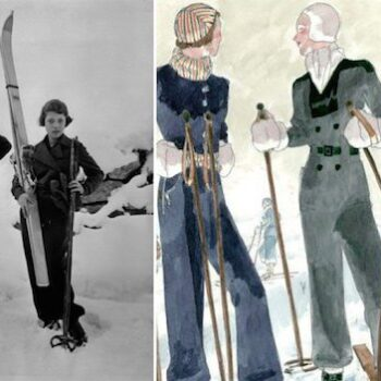 vintage womens ski jackets - Elsa-Schiaparelli-and-Gogo,-1934.