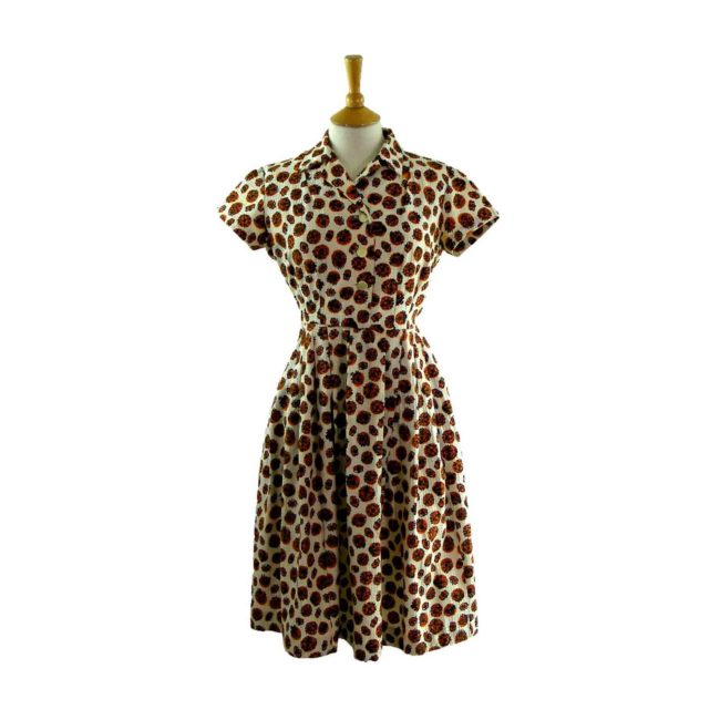 1950s Cotton Print dress